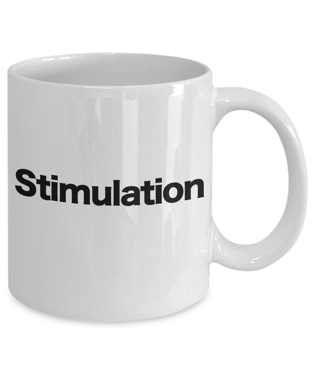 Stimulant-Mug-White-Coffee-Cup-Funny-Gift-for-Caffeine-Addict-Good-Morning miniature 3