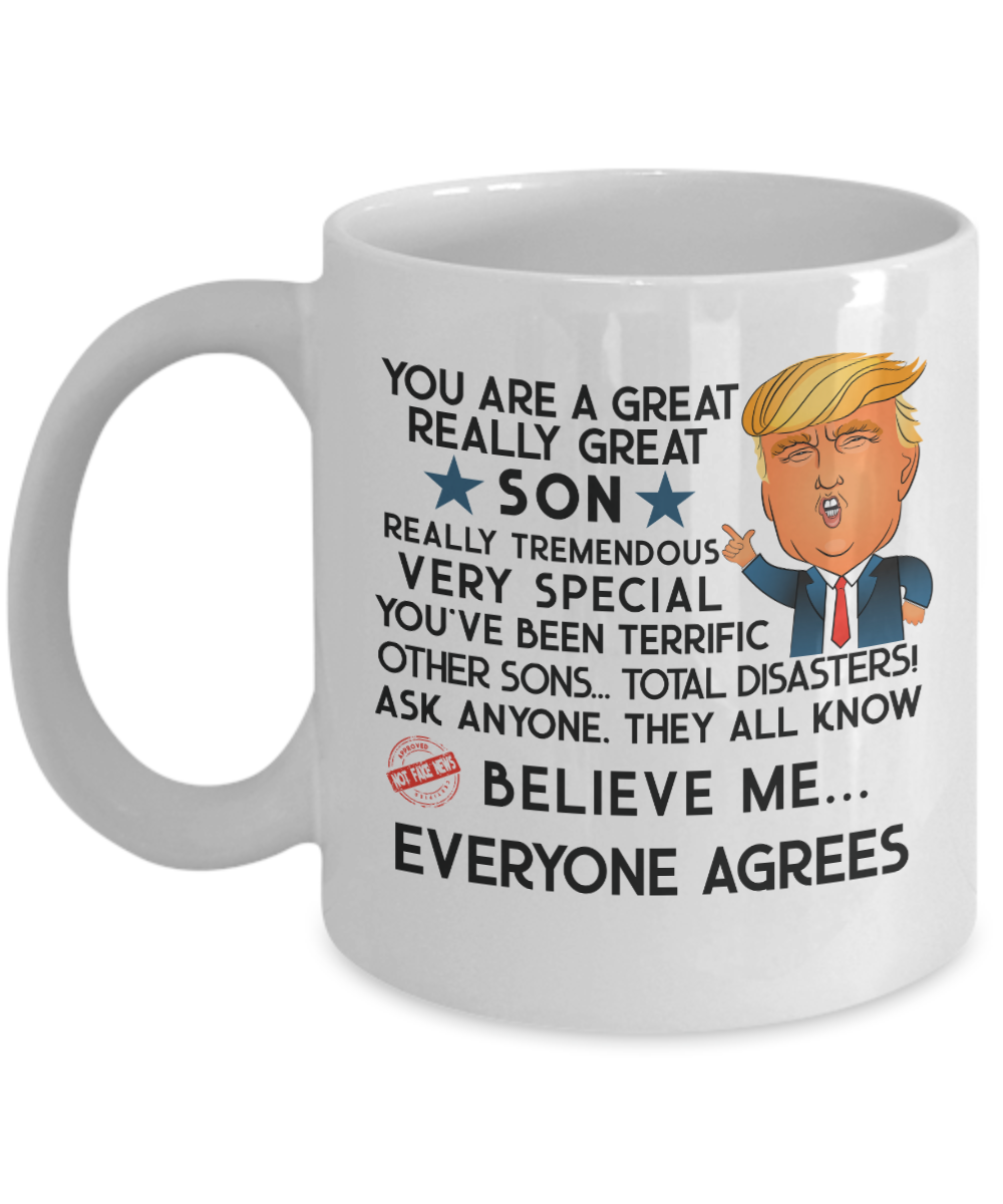 295774e53b3c Trump Mug - Son Mug Funny Son Gift Donald Trump For Son Birthday ...