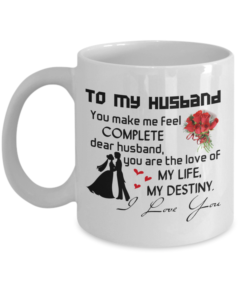 To My Husband Coffee Mug Best Gifts For Birthday And Wife