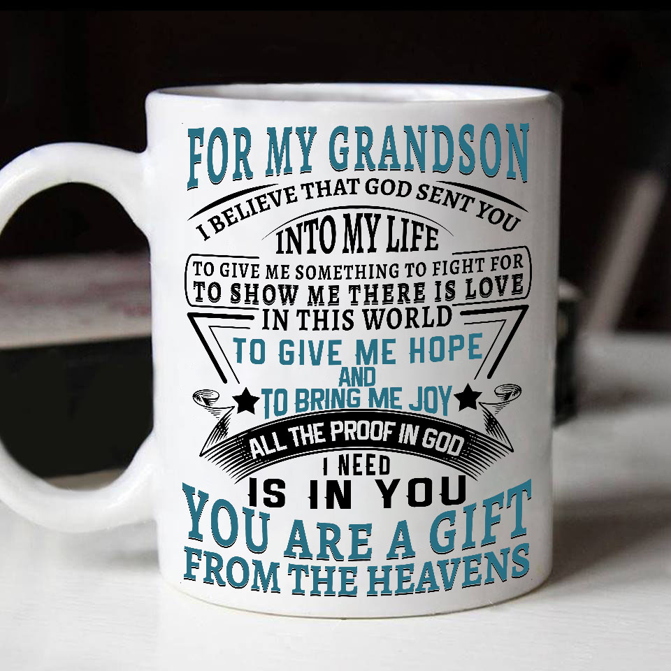 To My Grandson Birthday Gifts For Best Grand Special Mug Grandma And