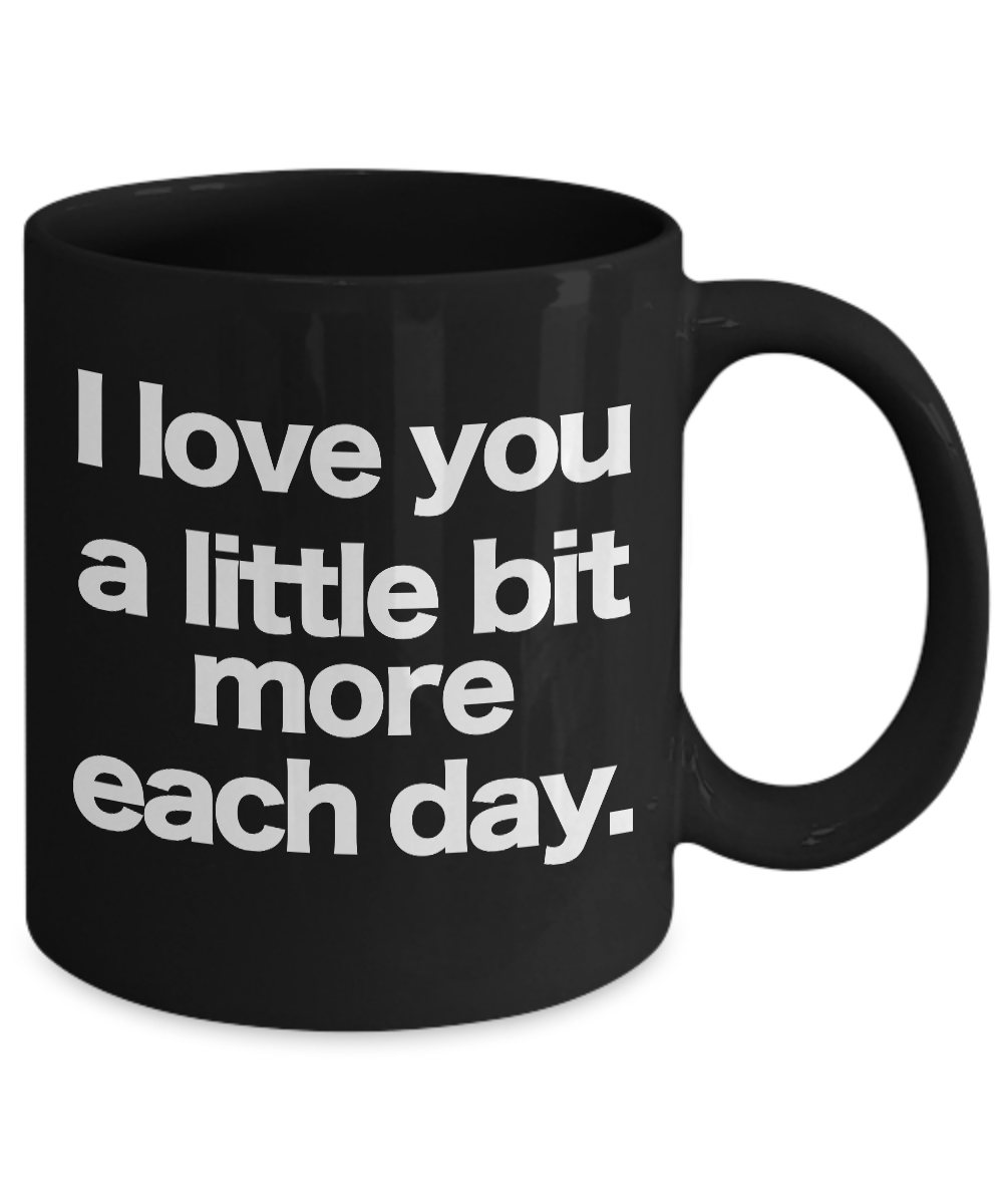 I-love-you-mug-Black-Coffee-Cup-Funny-Gift-for-Wife-Husband-Partner-Lover-Child miniature 3