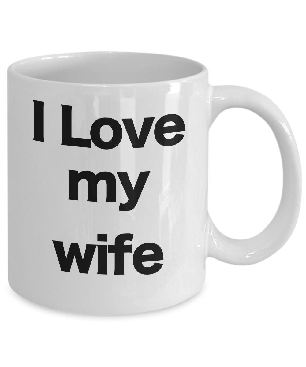 miniature 3 - I love my wife mug coffee cup funny gift mom valentines birthday anniversary