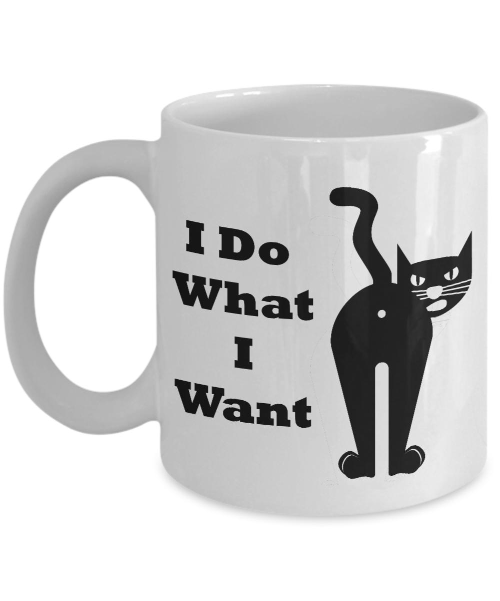 I Do What I Want Cat Mug 003