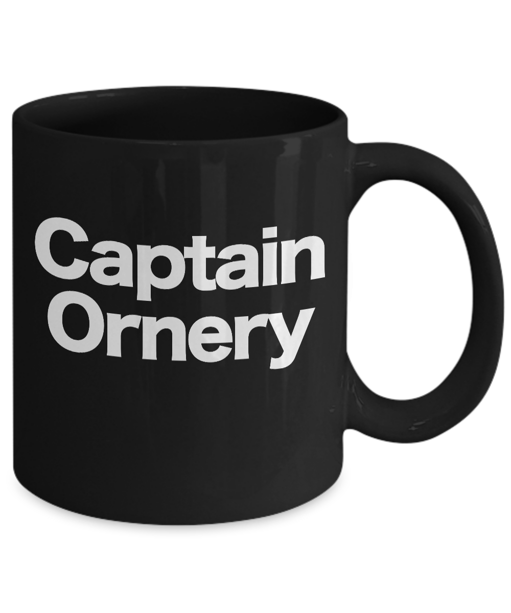 Captain-Ornery-Mug-Black-Coffee-Cup-Funny-Gift-for-Curmudgeon-Hermit-Dad-Uncle miniature 3