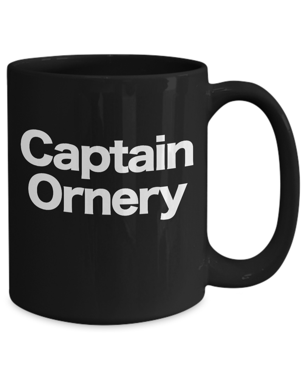 Captain-Ornery-Mug-Black-Coffee-Cup-Funny-Gift-for-Curmudgeon-Hermit-Dad-Uncle miniature 5