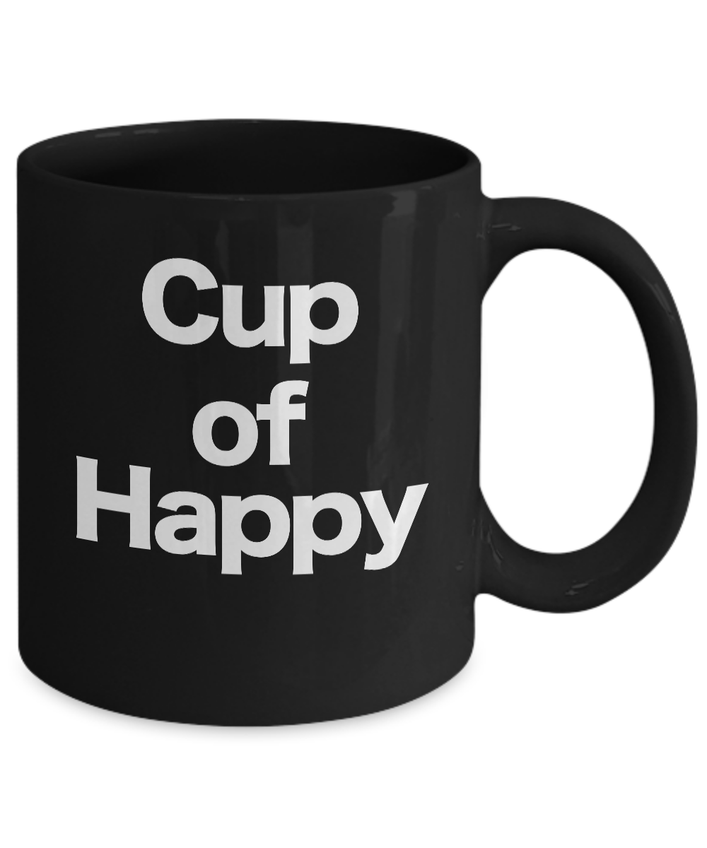 Cup-of-Happy-Mug-Black-Coffee-Cup-Funny-Gift-for-Joyful-Celebrations miniature 3