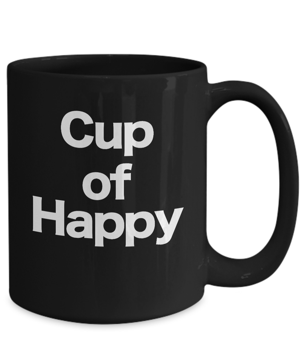Cup-of-Happy-Mug-Black-Coffee-Cup-Funny-Gift-for-Joyful-Celebrations miniature 5