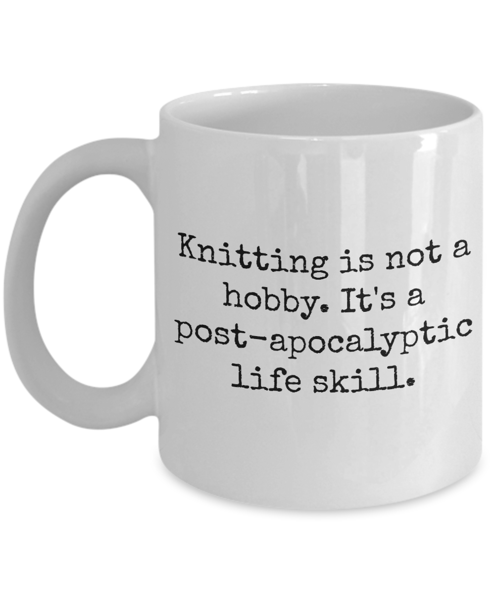 Knitting Gifts For Knitters : Funny knitting mug is not a hobby gifts for