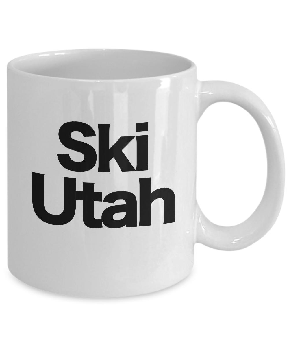 Ski-Utah-Mug-White-Coffee-Cup-Funny-Gift-Skier-Patrol-Bunny-Bum-Skys-Park-City miniature 3