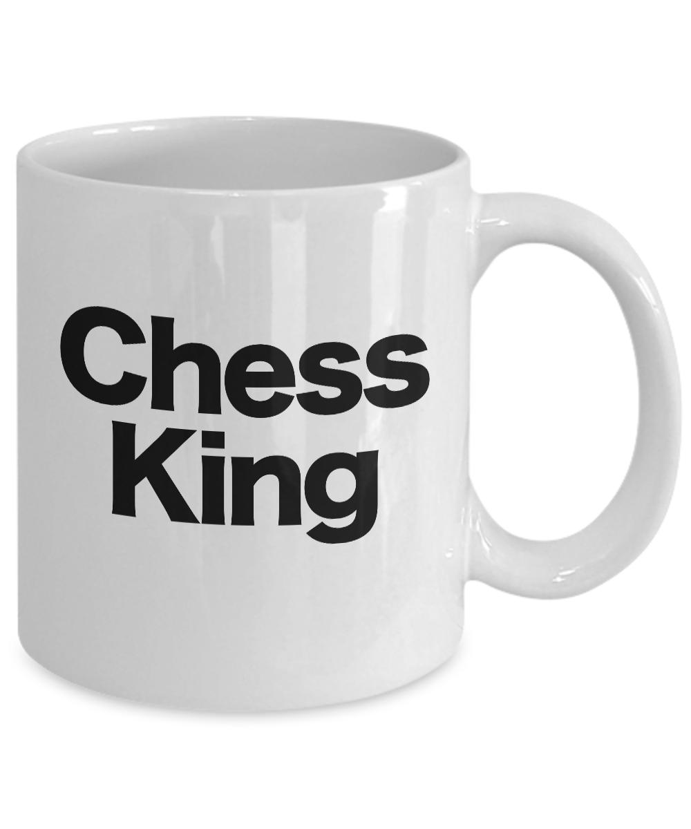 Chess-King-Mug-White-Coffee-Cup-Funny-Gift-for-Gamer-Grandmaster-Player miniature 3