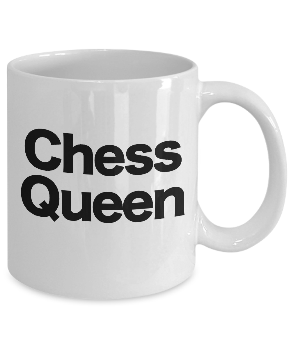 Chess-Queen-Mug-White-Coffee-Cup-Funny-Gift-for-Gamer-Grandmaster-Player miniature 3