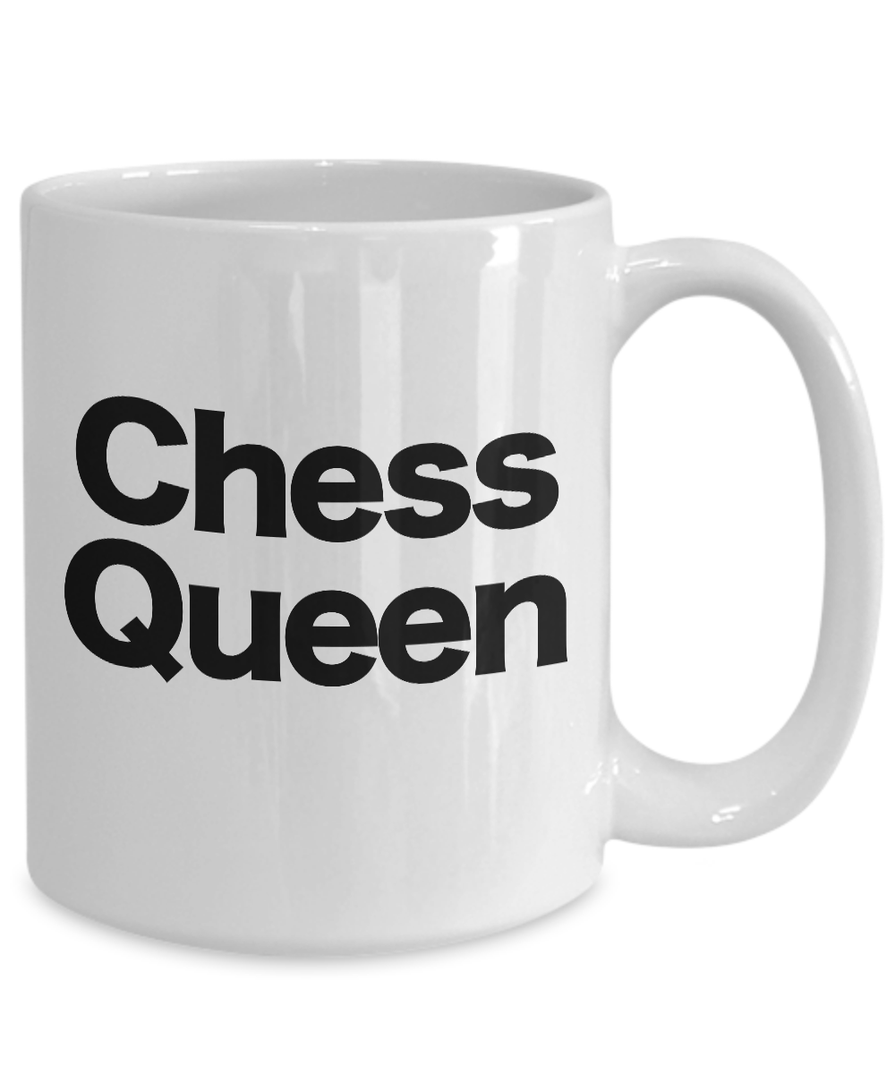Chess-Queen-Mug-White-Coffee-Cup-Funny-Gift-for-Gamer-Grandmaster-Player miniature 5
