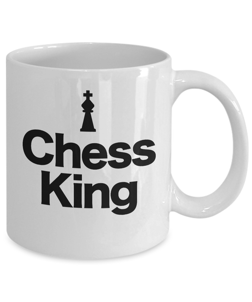 Chess-King-Piece-Mug-White-Coffee-Cup-Funny-Gift-for-Gamer-Grandmaster miniature 3