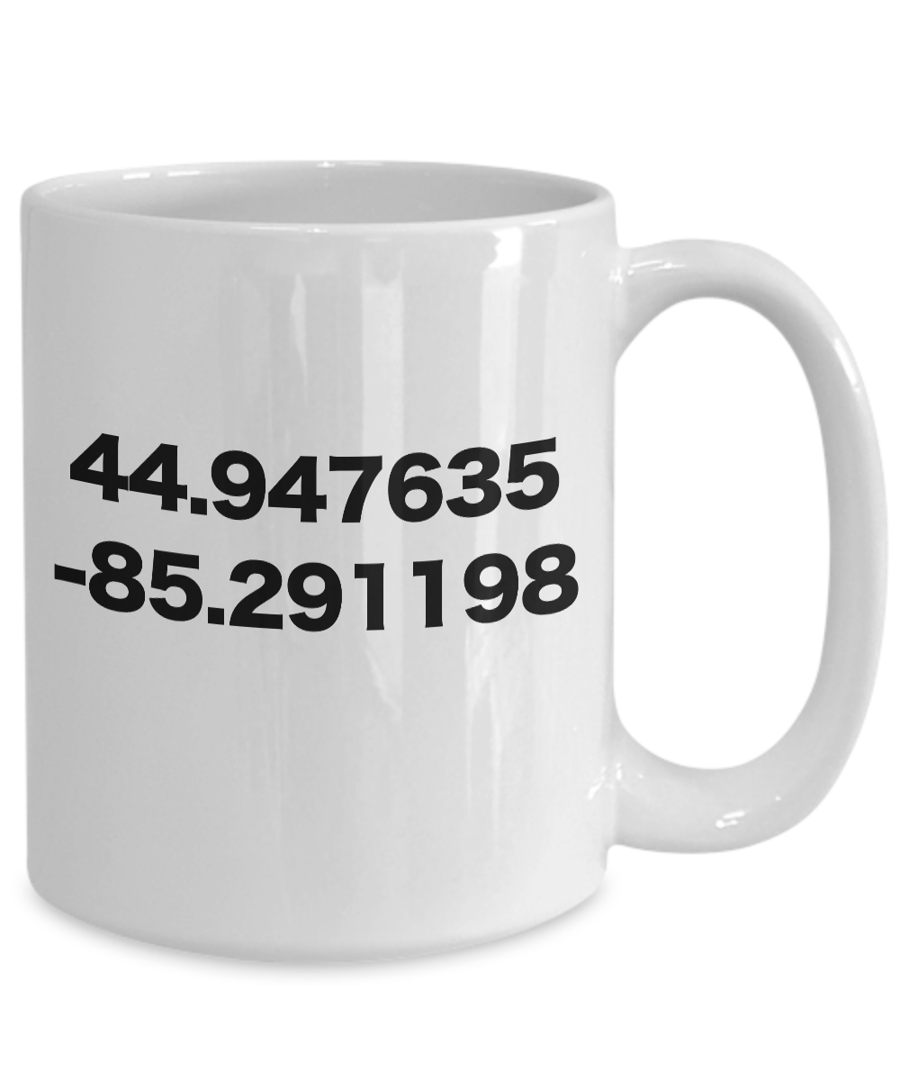 miniature 5 - Torch Lake Mug White Coffee Cup with GPS Coordinates Funny Gift for Michigan