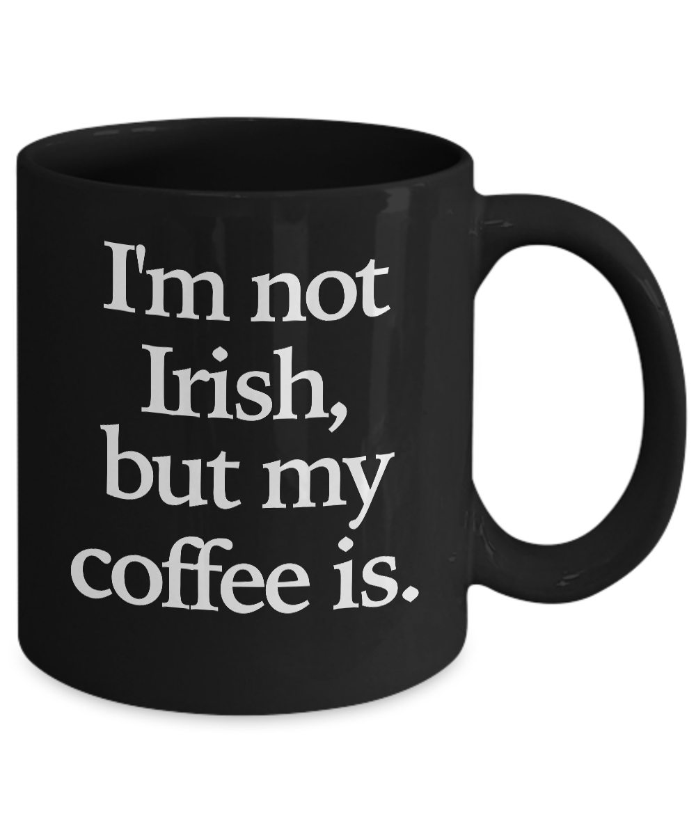 Irish-Coffee-Mug-Black-Coffee-Cup-Funny-Gift-for-St-Patrick-039-s-Day-Whiskey miniature 3