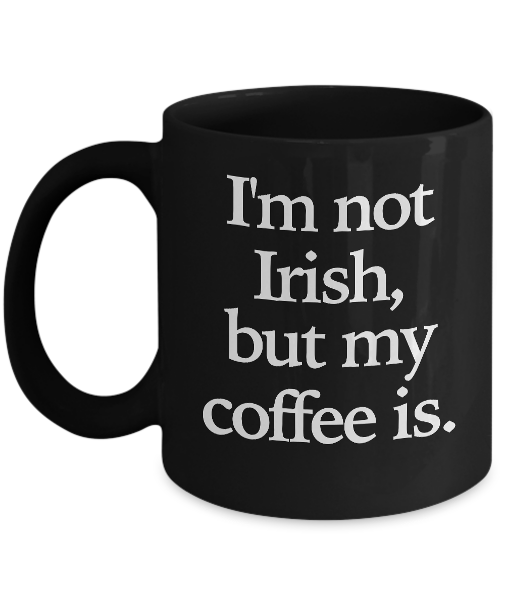 Irish-Coffee-Mug-Black-Coffee-Cup-Funny-Gift-for-St-Patrick-039-s-Day-Whiskey miniature 2