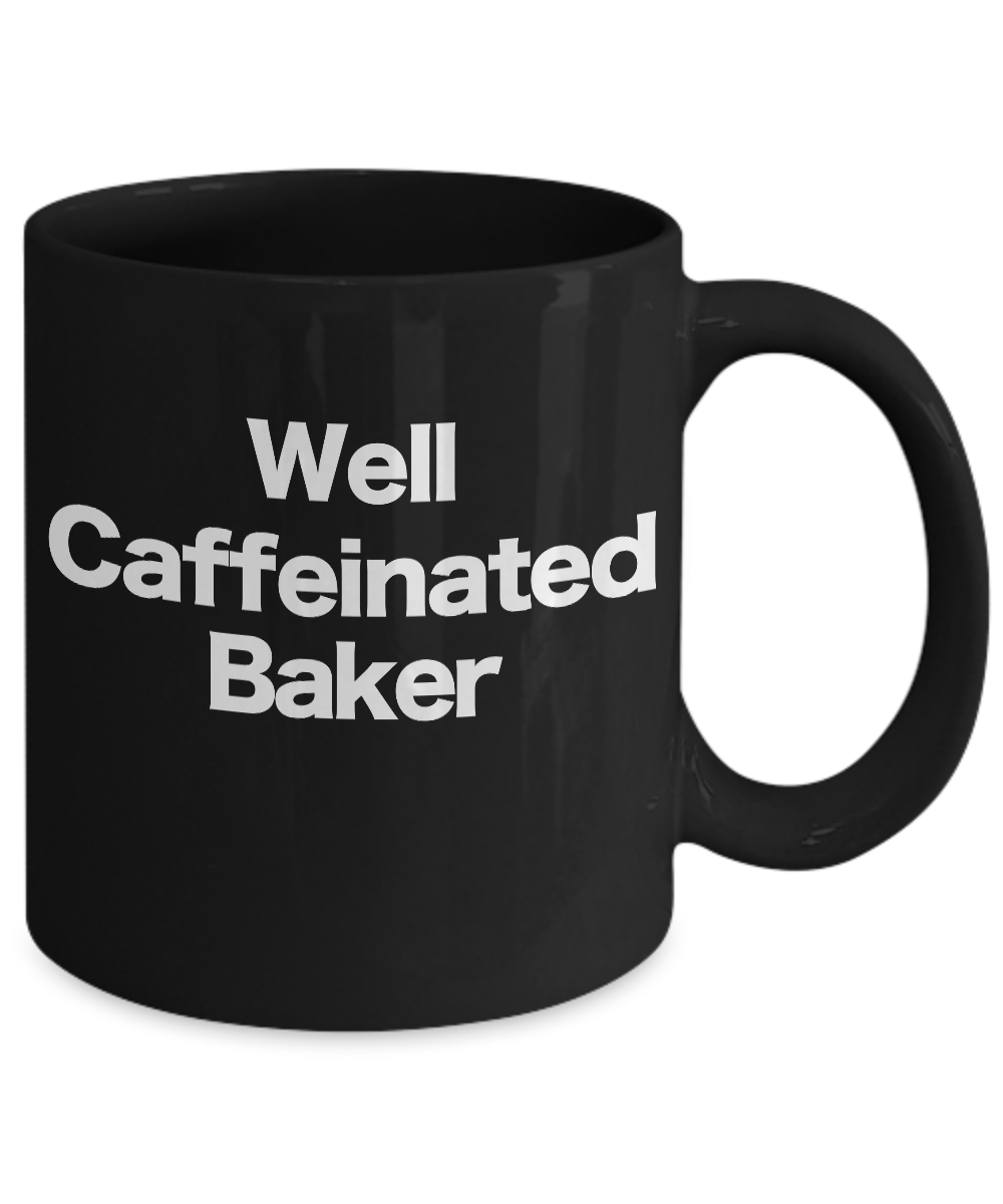 Baker-Mug-Black-Coffee-Cup-Funny-Gift-for-Baking-Star-Mom-Pastry-Chef miniature 3