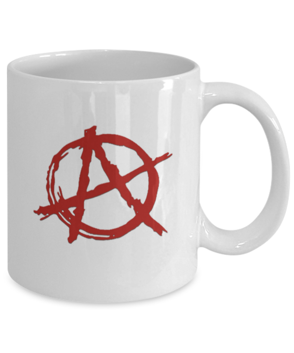 Details Anarchy Coffee AncomCommunist Gift Rock White Punk Funny About Mug Cup For A Red W9HD2IE