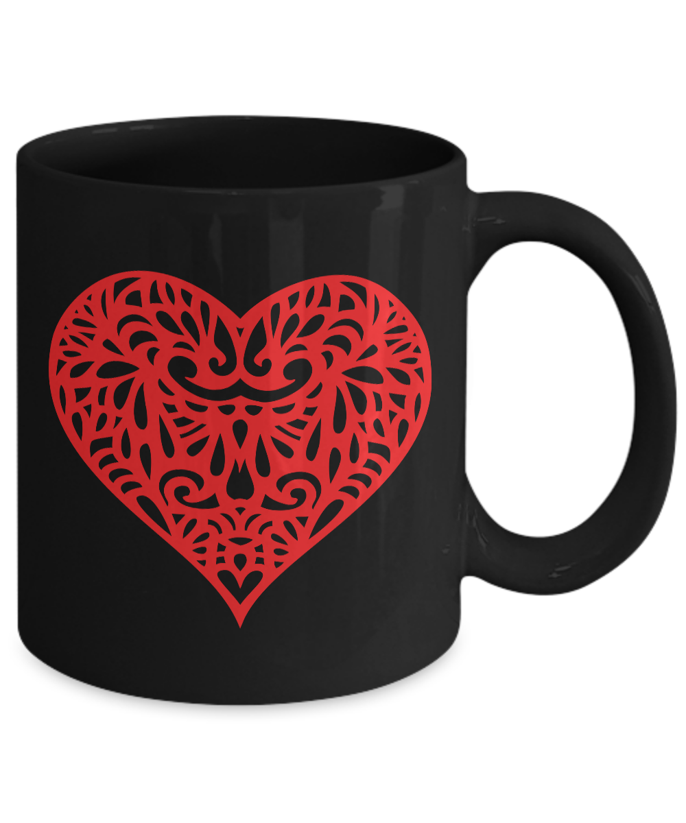 Red-Hot-Heart-Mug-Black-Coffee-Cup-Funny-Gift-for-Wedding-Shower-Anniversary miniature 3