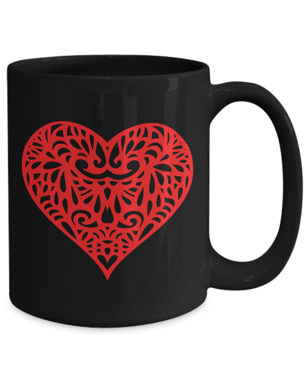 Red-Hot-Heart-Mug-Black-Coffee-Cup-Funny-Gift-for-Wedding-Shower-Anniversary miniature 5