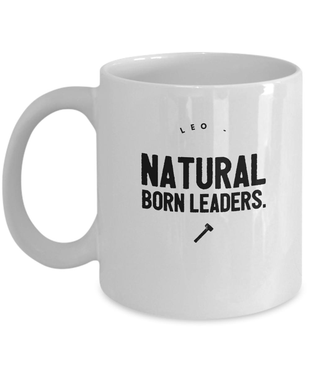 Zodiac Signs Coffee Mug - Leo - Natural Born Leaders