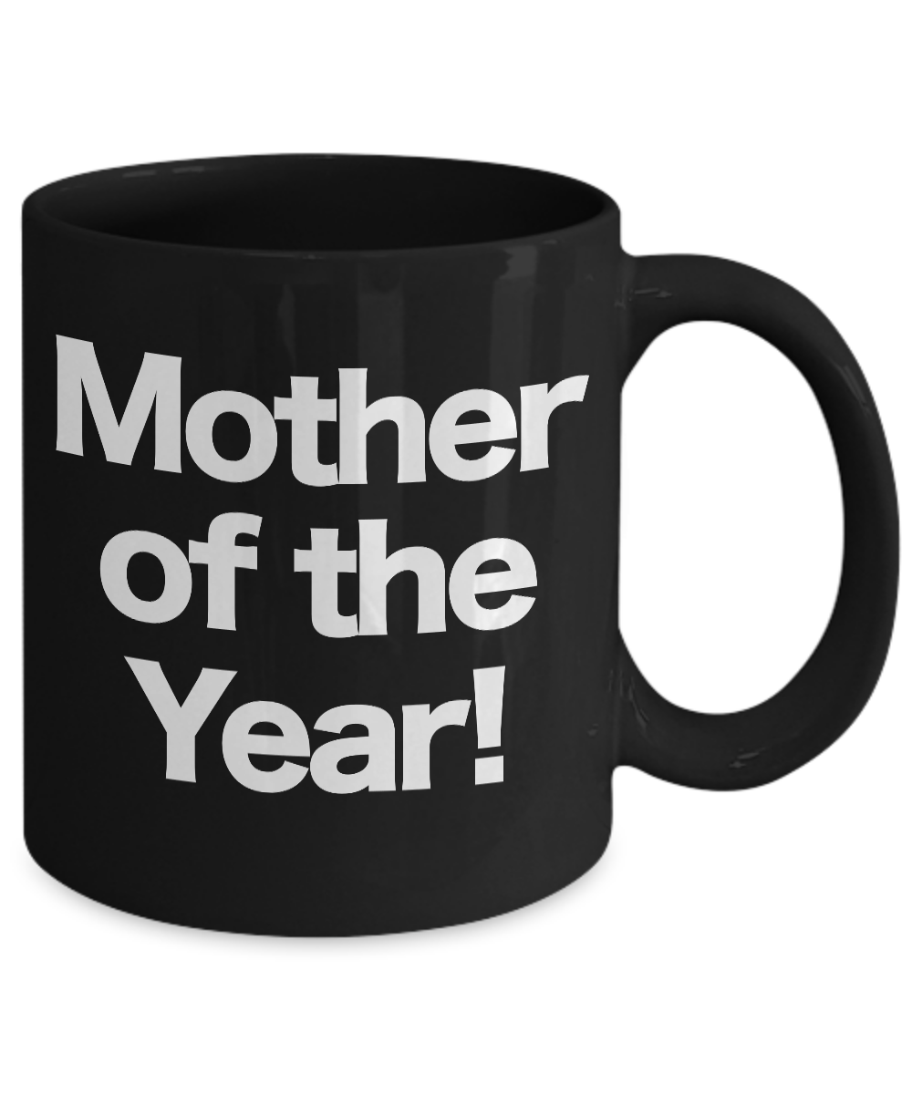 Mother-of-the-Year-Mug-Black-Coffee-Cup-Funny-Gift-for-Mom-Birthday-Bonus miniature 3