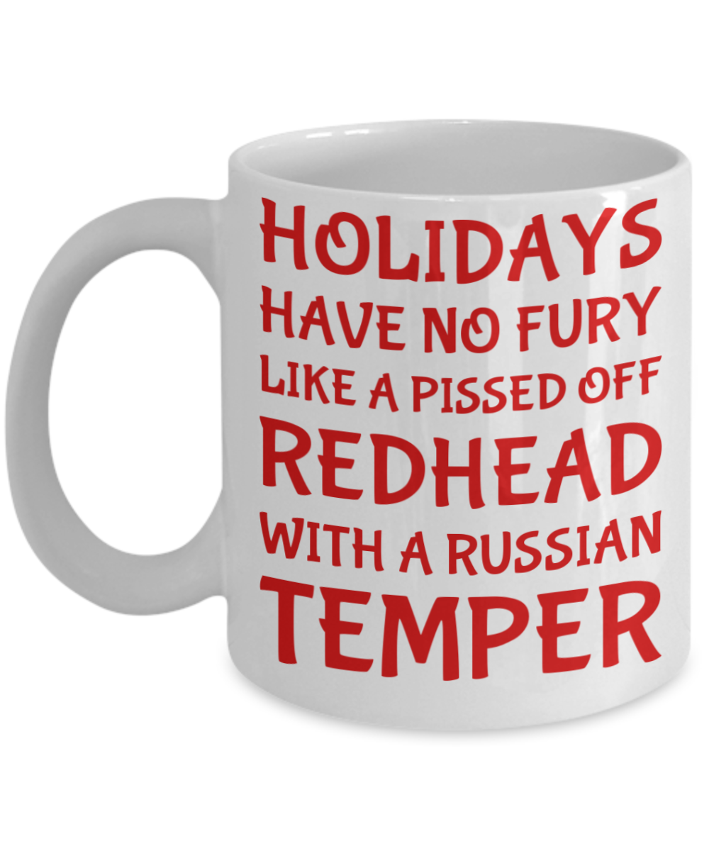 Holiday Christmas Mug Gift For Redhead Russian Girls Xmas