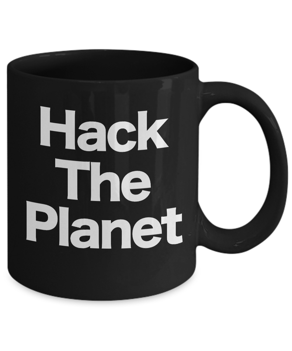 miniature 3 - Hack-the-Planet-Mug-Black-Coffee-Cup-Funny-Gift-for-Cyber-punk-Crypto-Comp