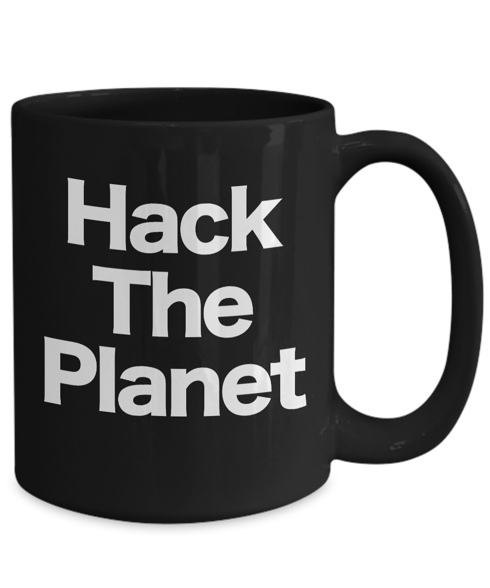 miniature 5 - Hack-the-Planet-Mug-Black-Coffee-Cup-Funny-Gift-for-Cyber-punk-Crypto-Comp