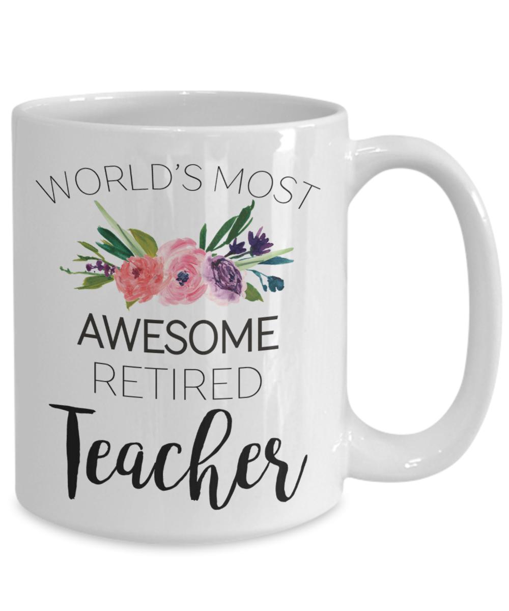 Teacher Retirement Coffee Cup Just B Cause