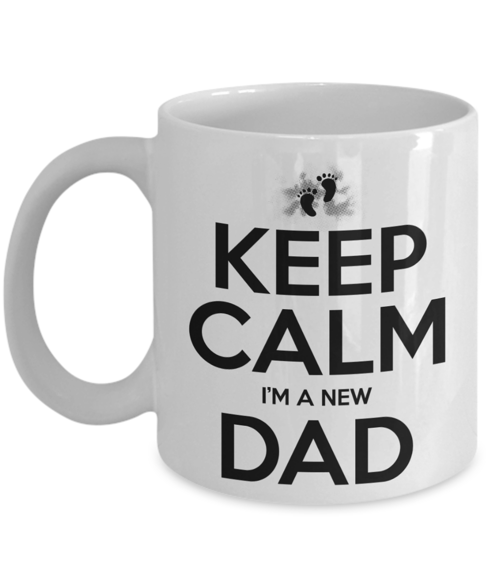 Funny Birthday Gift For New Dad Fathers Day Newborn Baby Christmas Dumbass Kids Coffee Cup Front