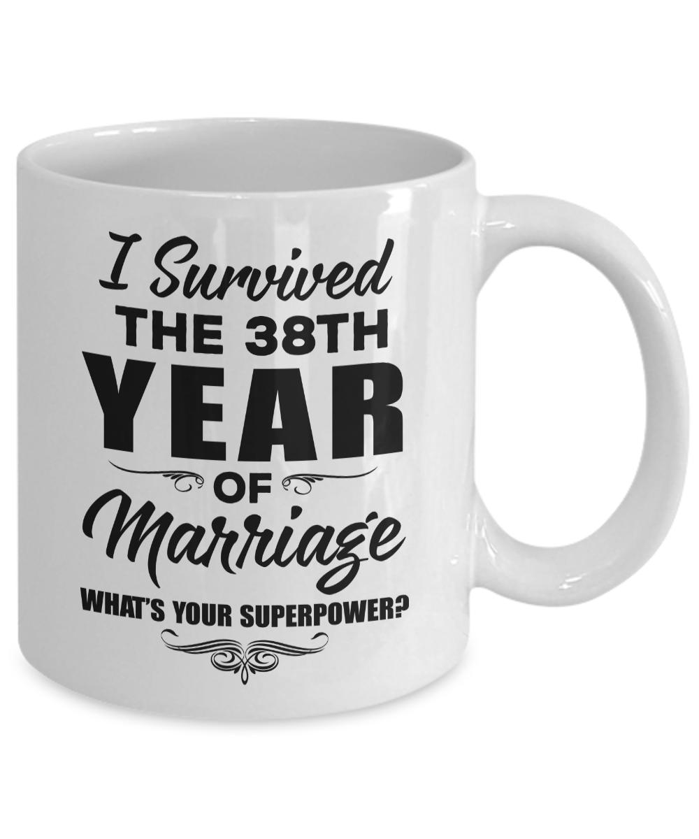 38 Year Wedding Anniversary Gift: 38th Wedding Anniversary Gift For Parents Men Women Wife