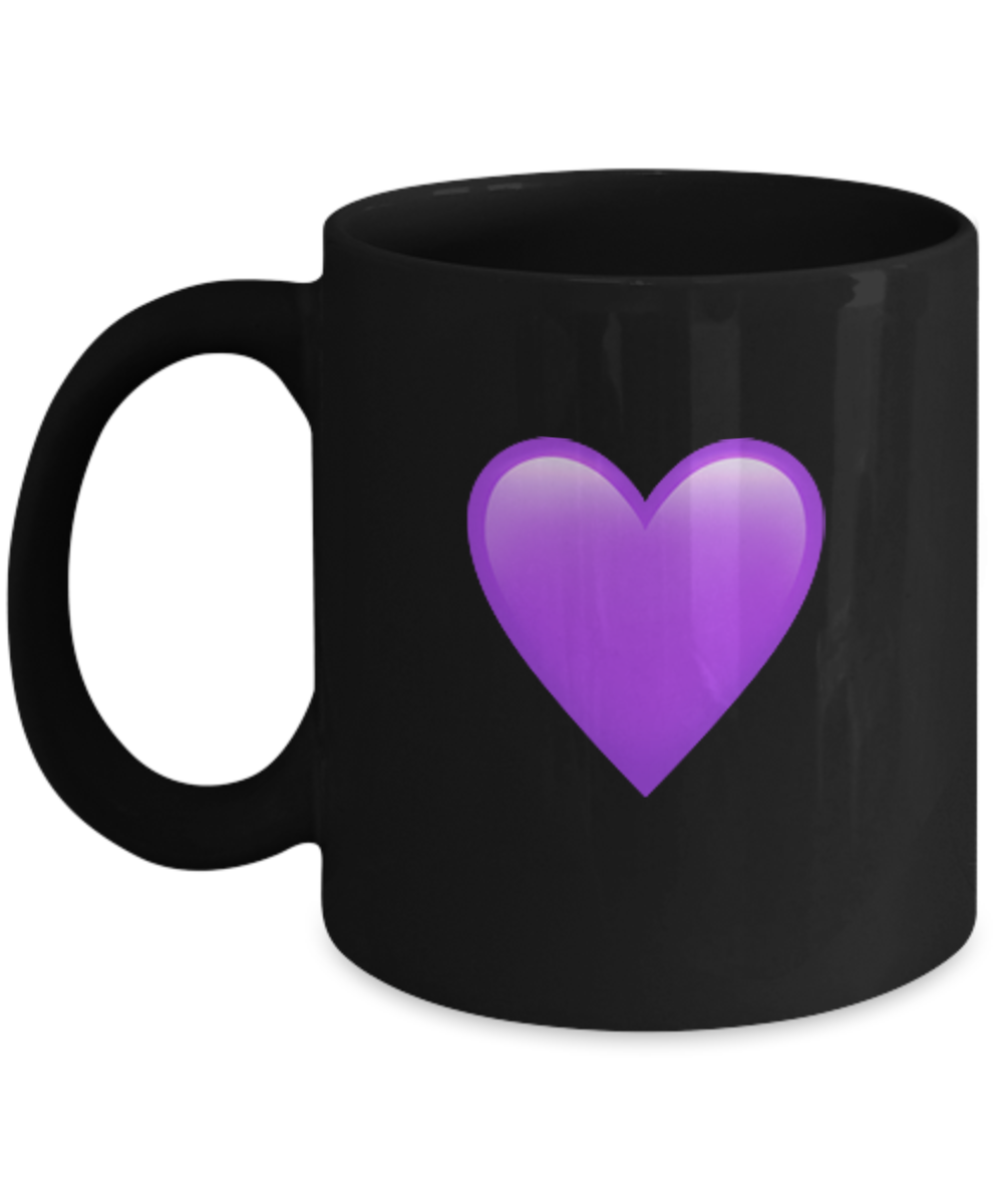Emoji Accessories - Purple Heart - 11 & 15 OZ Ceramic Emojies ...