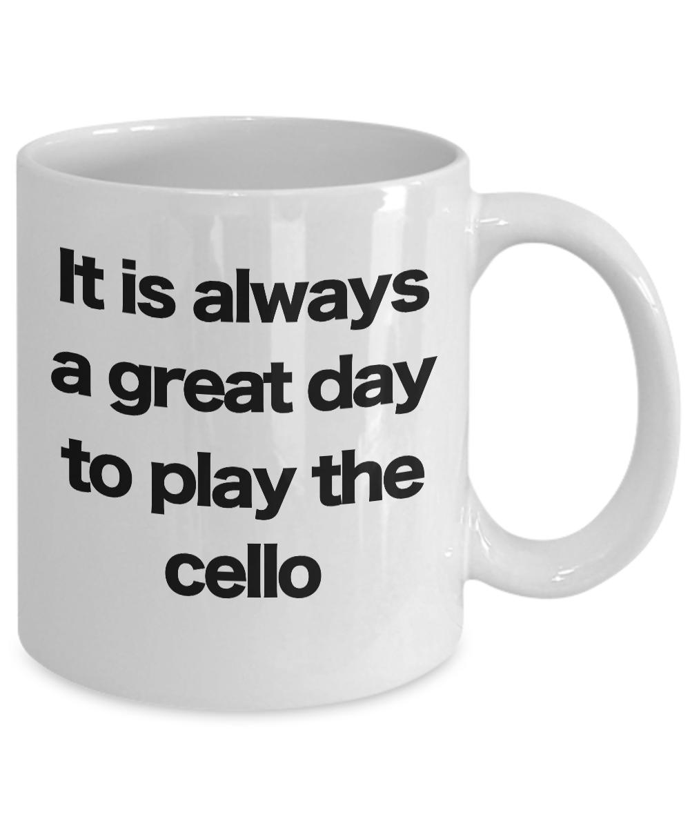 Cello-Mug-White-Coffee-Cup-Funny-Gift-for-Cellist-Violoncellist-Musician miniature 3
