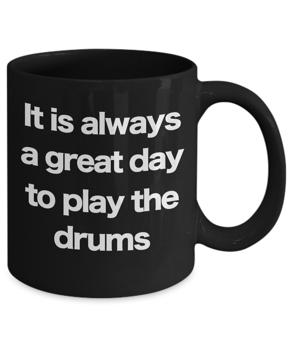Drums-Mug-Black-Coffee-Cup-Funny-Gift-for-Drummer-Musician-Band-Director-Teacher miniature 3