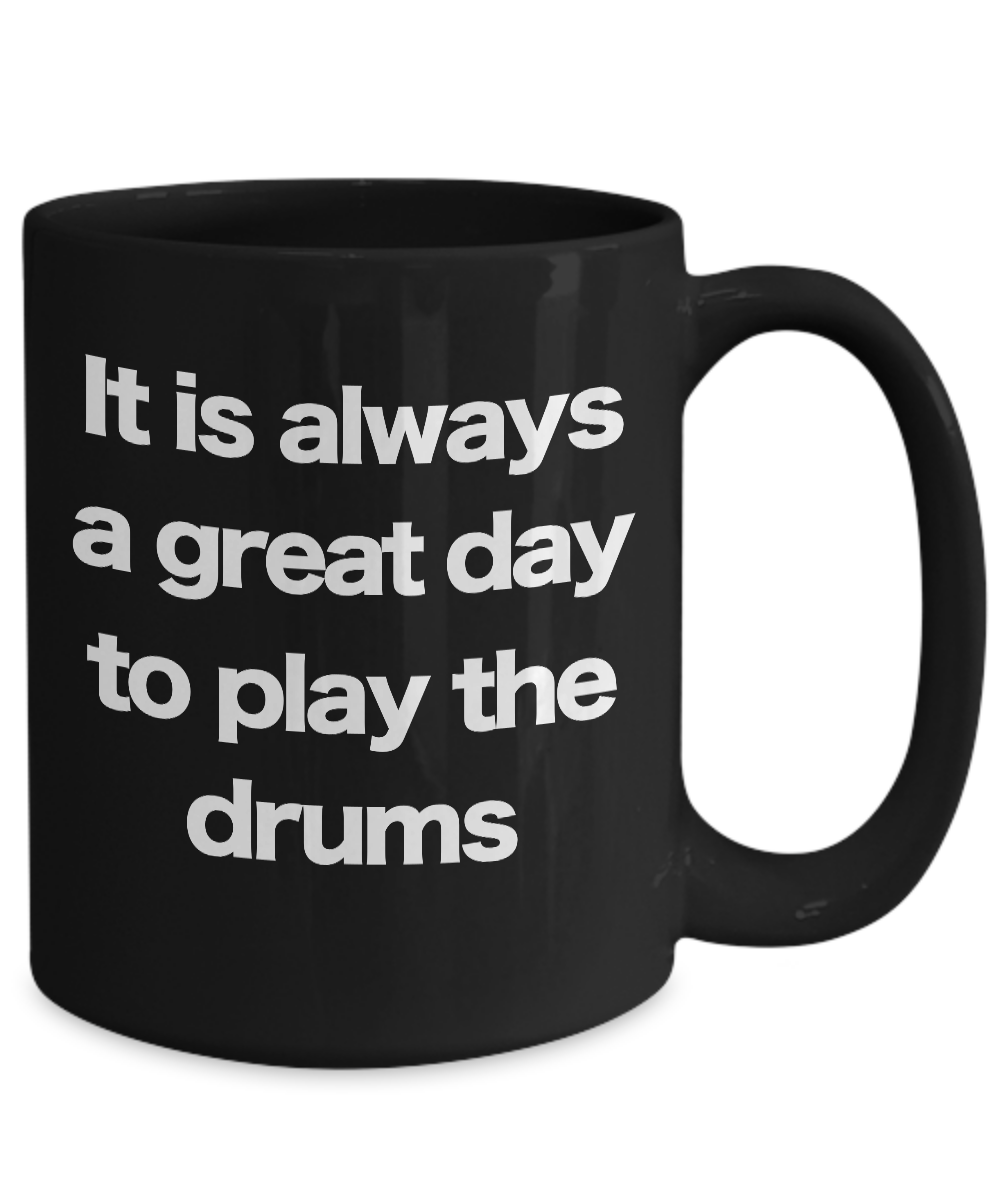 Drums-Mug-Black-Coffee-Cup-Funny-Gift-for-Drummer-Musician-Band-Director-Teacher miniature 5