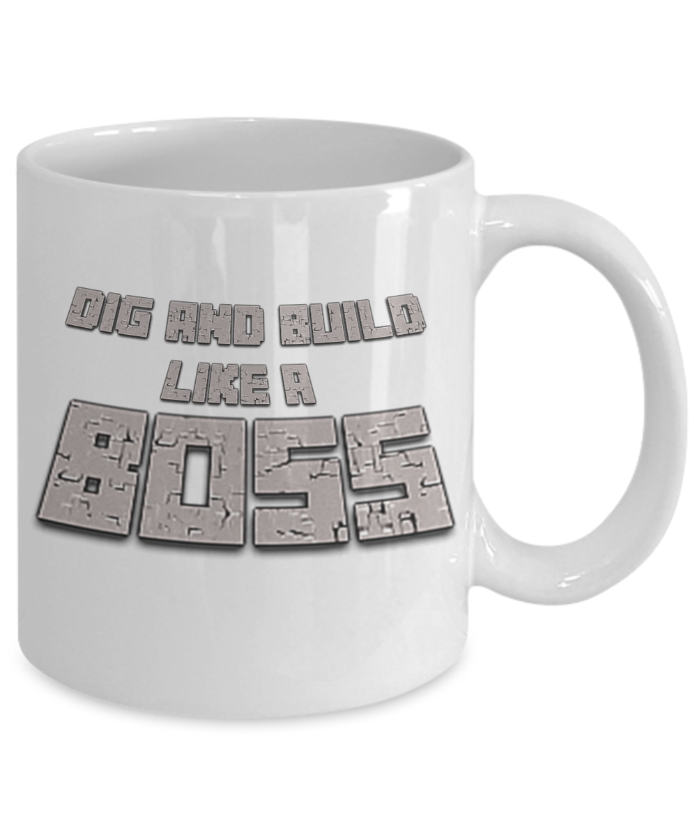 Like A Boss Minecraft Minecraft Coffee Mug Video Game