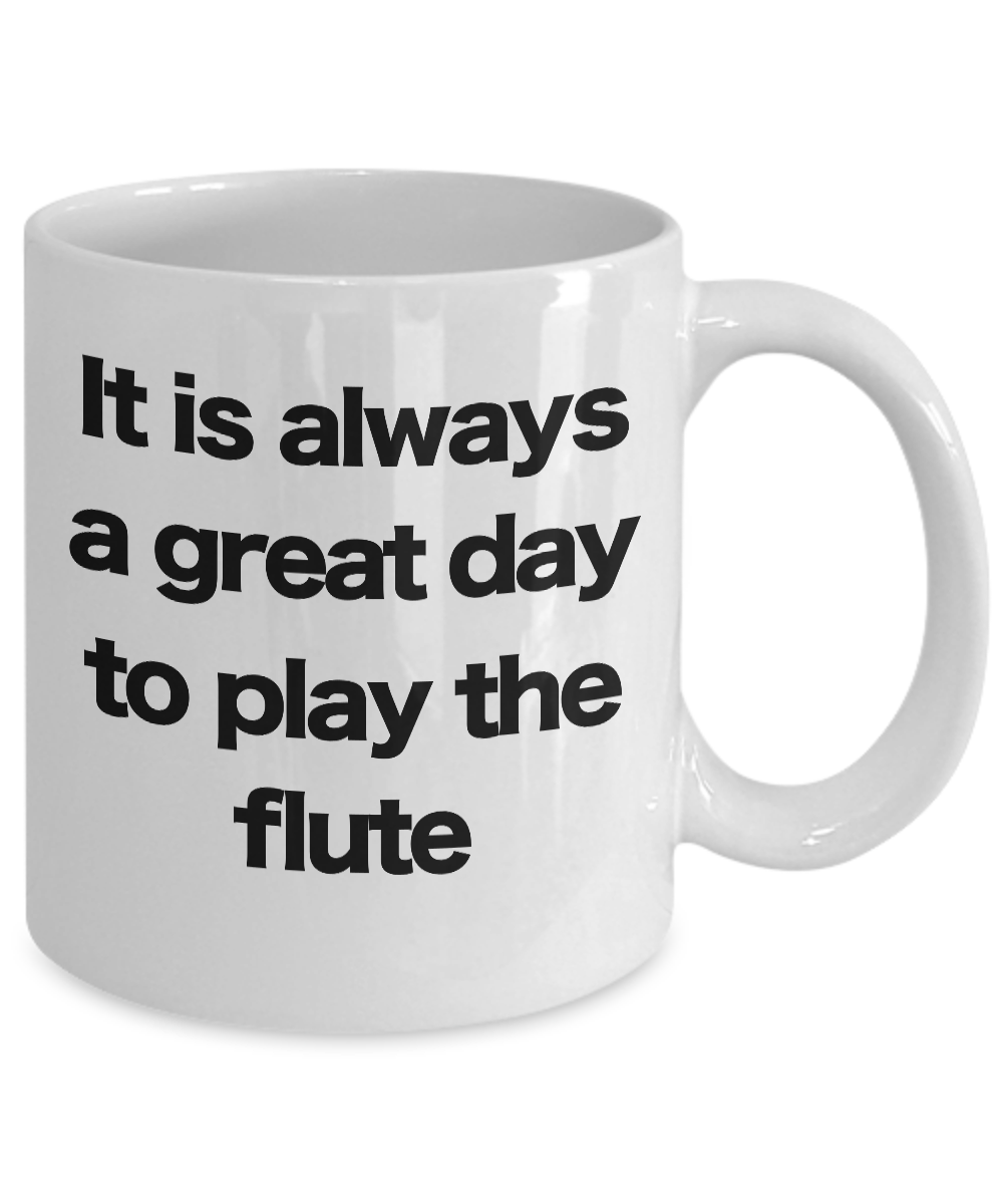 Flute-Mug-White-Coffee-Cup-Funny-Gift-for-Flutist-Player-Musician-Performer miniature 3