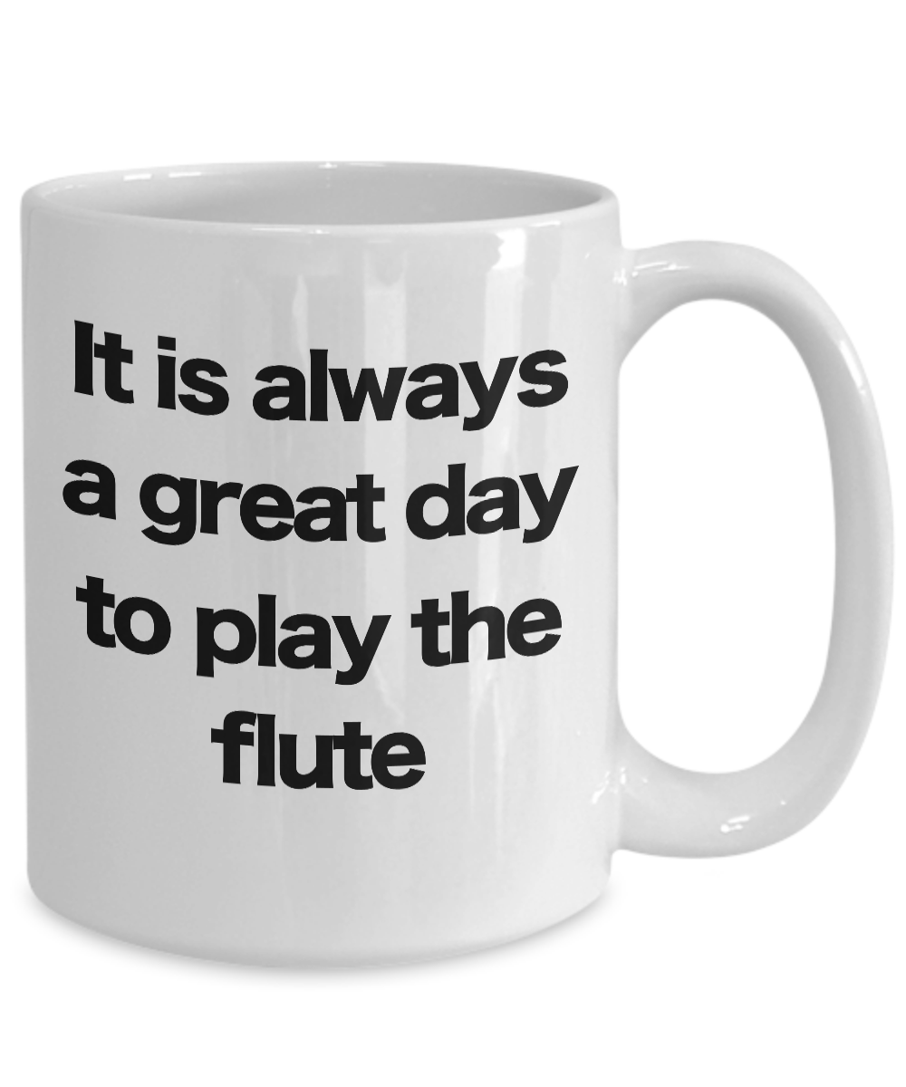 Flute-Mug-White-Coffee-Cup-Funny-Gift-for-Flutist-Player-Musician-Performer miniature 5