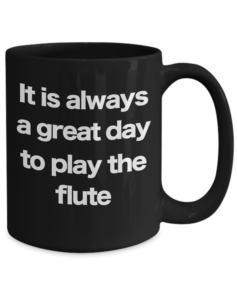 miniature 5 - Flute Mug Black Coffee Cup Funny Gift for Flutist Player Musician Performer