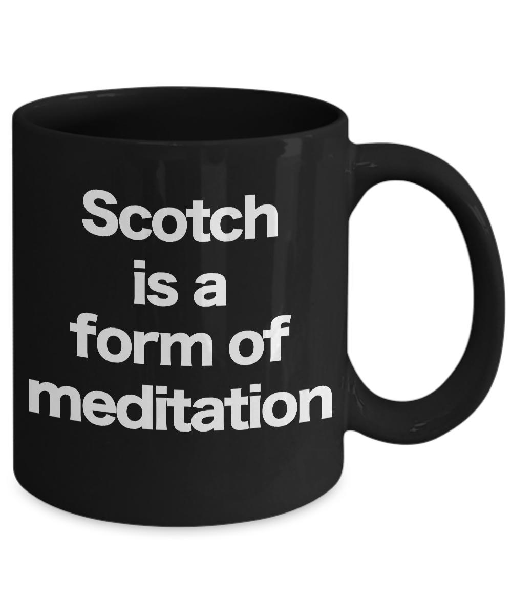 Scotch-Mug-Black-Coffee-Cup-Funny-Gift-for-Dad-Birthday-Whiskey-Bourbon miniature 3