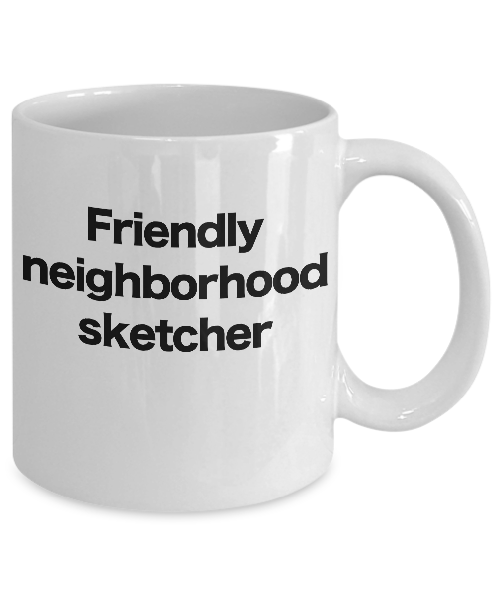 miniature 3 - Sketcher Mug White Coffee Cup Funny Gift for Pencil, Chalk, Charcoal, Artist, Me