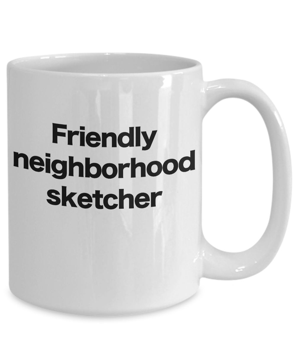 miniature 5 - Sketcher Mug White Coffee Cup Funny Gift for Pencil, Chalk, Charcoal, Artist, Me