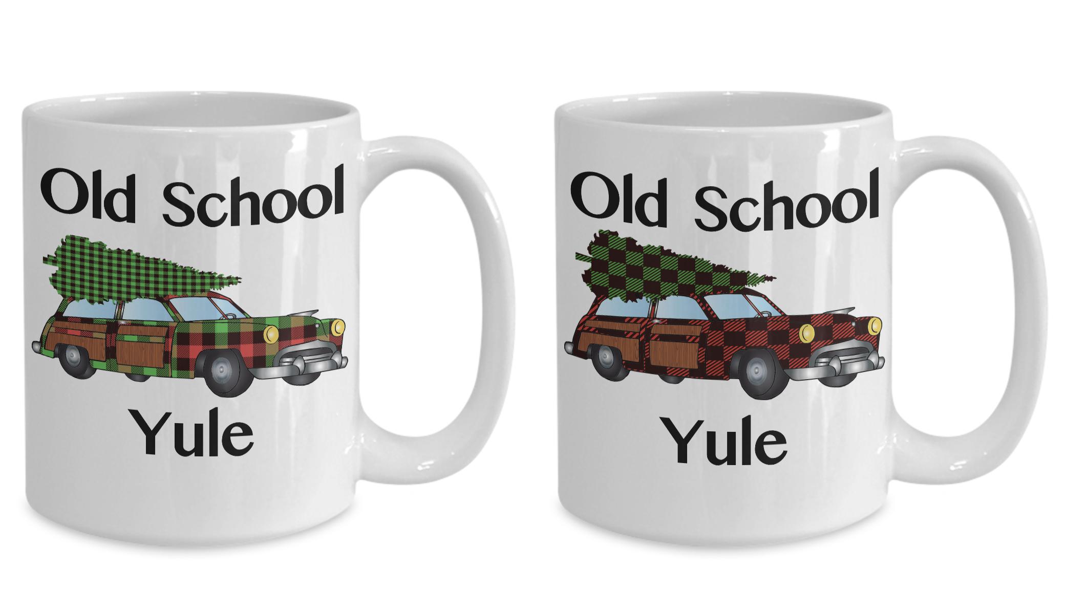 Vintage Yule Mug Christmas Red and Green Plaid Coffee Cup ...