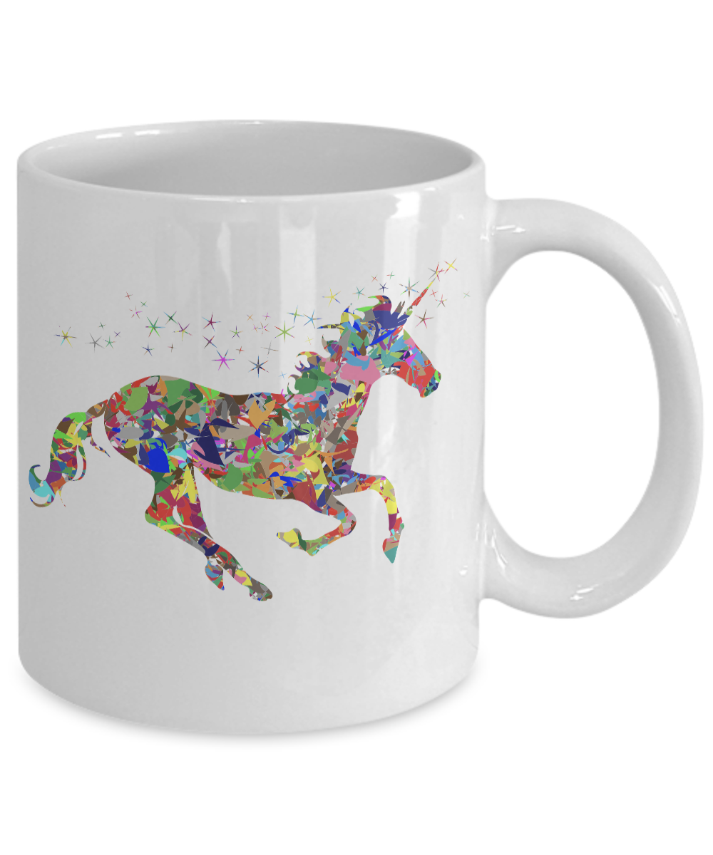 miniature 3 - Glitter-Unicorn-Mug-Colorful-White-Coffee-Cup-Funny-Gift-for-Majestic-Magical