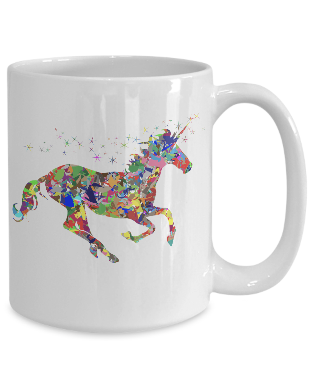 miniature 5 - Glitter-Unicorn-Mug-Colorful-White-Coffee-Cup-Funny-Gift-for-Majestic-Magical