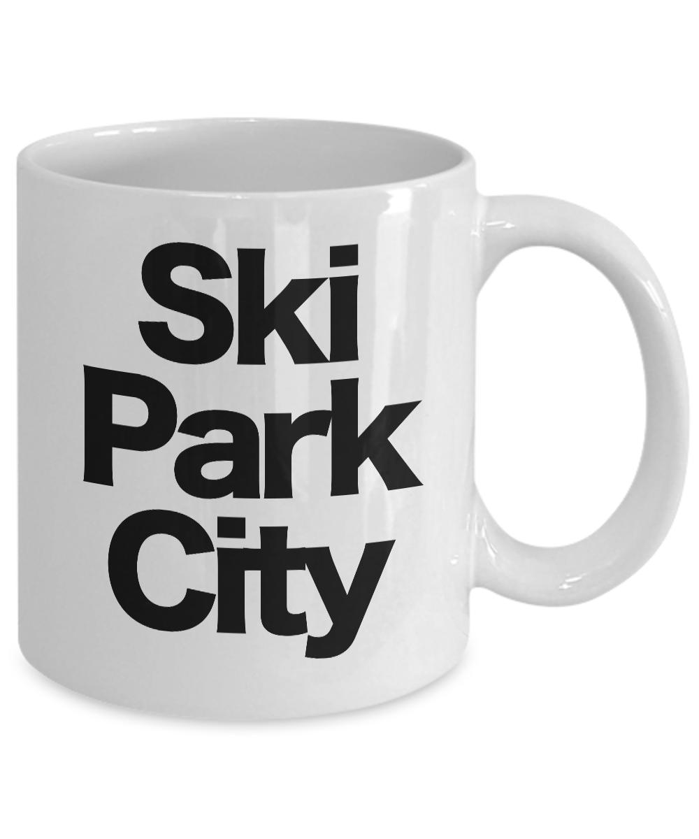 miniature 3 - Ski Park City Mug White Coffee Cup Funny Gift for Skier Patrol, Bunny, Bum, Utah
