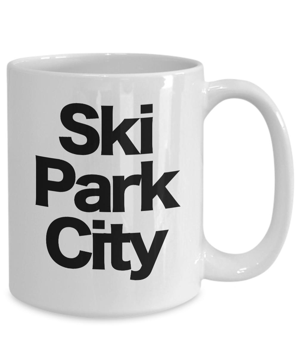 miniature 5 - Ski Park City Mug White Coffee Cup Funny Gift for Skier Patrol, Bunny, Bum, Utah