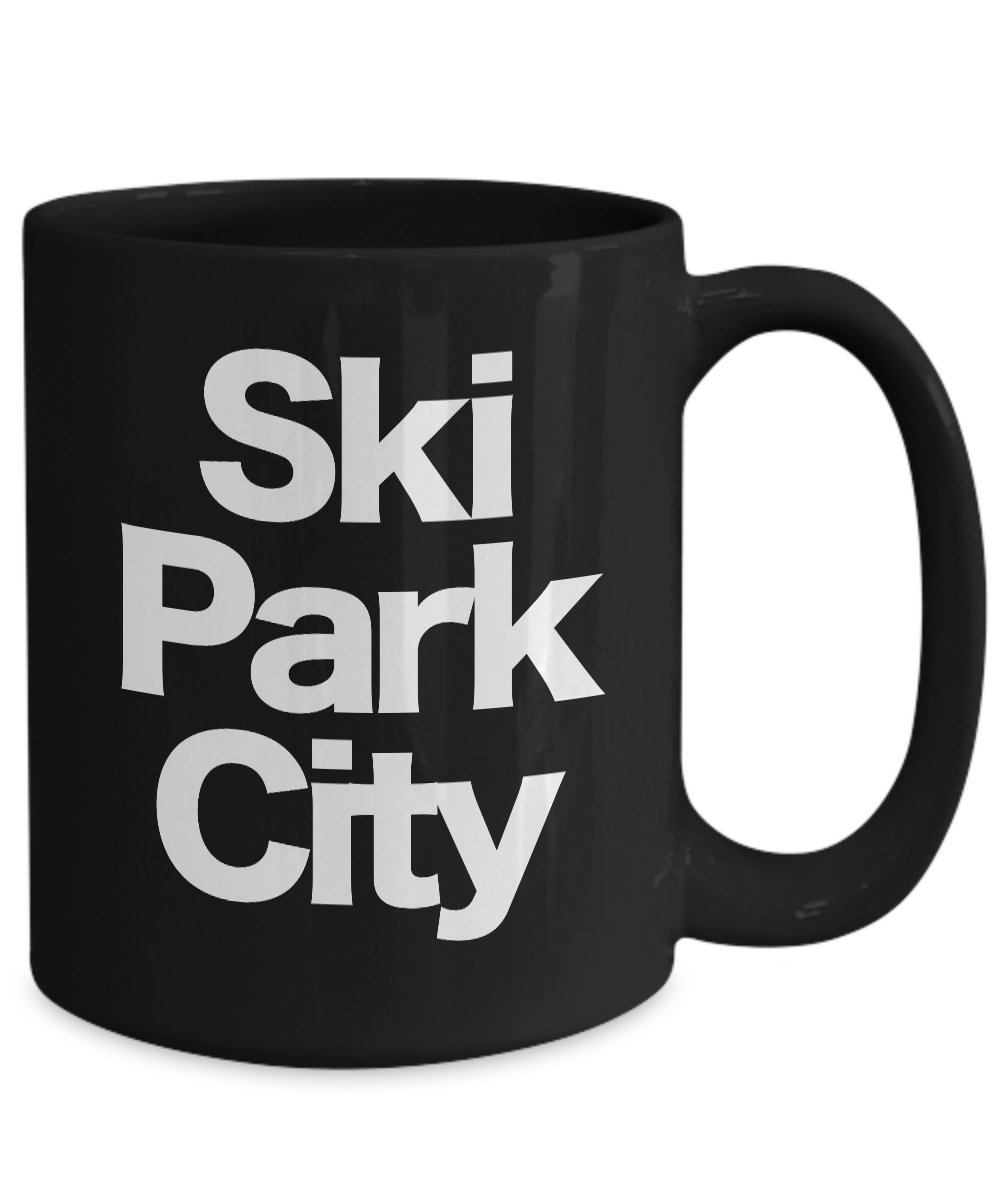 Ski-Park-City-Mug-Black-Coffee-Cup-Funny-Gift-for-Skier-Patrol-Bunny-Bum-Utah miniature 5