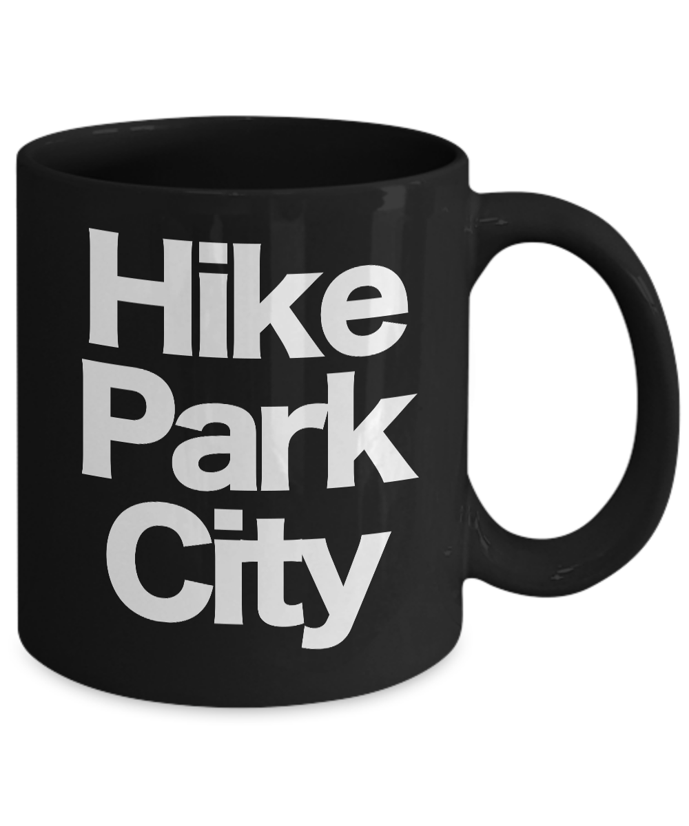 miniature 3 - Hike Park City Mug Black Coffee Cup Funny Gift for Skier Patrol, Bunny, Bum Utah
